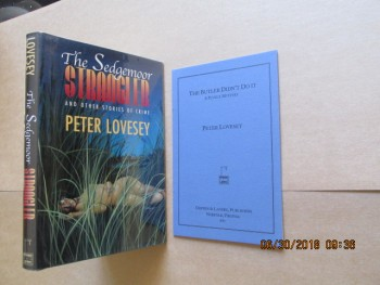 Image for The Sedgemoor Strangler: And Other Stories in Crime [ Signed Numbered Edition Plus  The Butler Didnt Do it  Booklet