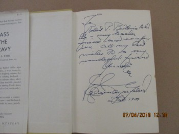 Image for Pass the Gravy [a Signed and Dated 1959 US First Edition in Hardback ]