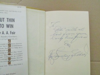 Image for Cut Thin to Win  [a Signed  1965 US First Edition in Hardback ]