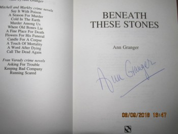 Image for Beneath These Stones Signed and Bookmark first Edition Hardback in dustjacket)