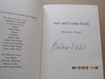 Image for Sure and Certain Death Signed First Edition Hardback in Dustjacket