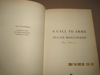 Image for A Call To Arms Signed First Edition Hardback in Dustjacket