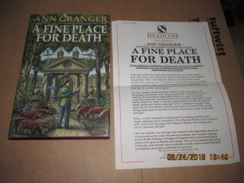 Image for A Fine Place for Death First Edition Hardback in Dustjacket Plus Press Release Letter