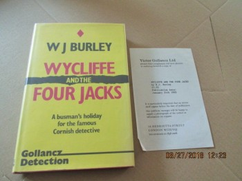 Image for Wycliffe and the Four Jacks First Edition Hardback in Dustjacket  Plus Publishers Review Slip