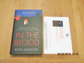 Image for In the Blood Unread First Edition Hardback in Dustjacket plus Publicity Letter