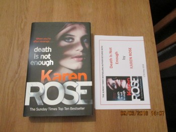 Image for Death is Not Enough Unread First Edition Hardback in Dustjacket Plus Publicity Letter