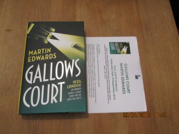 Image for Gallows Court Unread First Edition Hardback in Dustjacket plus Publicity Letter