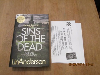 Image for Sins of the Dead Unread First Edition Hardback in Dustjacket Plus Publishers Publicity Letter