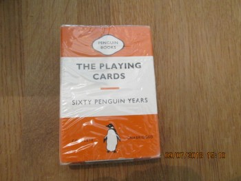 Image for Penguin Playing Cards (Orange) Still Sealed in Cellophane