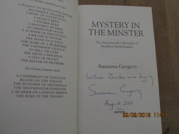 Image for Mystery In the Minster Signed Lined Dated First Edition Hardback in Dustjacket