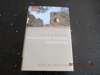 Image for The Substance of Language Volume 111 phonology-Syntax Analogies
