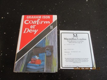 Image for Confirm or Deny First Edition Hardback in Dustjacket Plus Review Slip