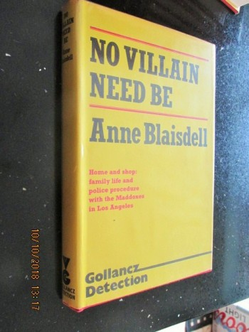 Image for No Villain Need Be First Edition Hardback in Dustjacket