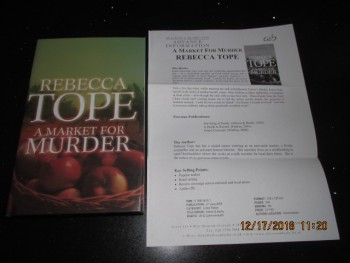 Image for A Market for Murder Signed First Edition Hardback in Dustjacket  Plus Publicity Letter