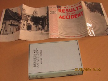 Image for Results of an Accident 1931 First Edition Hardback in Dustjacket