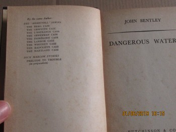 Image for Dangerous Waters 1939 First Edition Hardback in Dustjacket