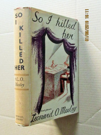 Image for So I Killed Her 1936 First Edition Hardback in Dustjacket