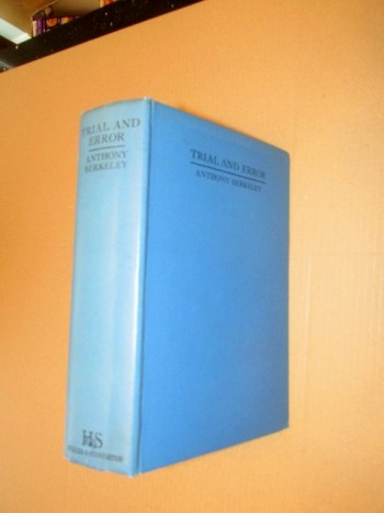 Image for Trial and Error 1937 First Edition Hardback