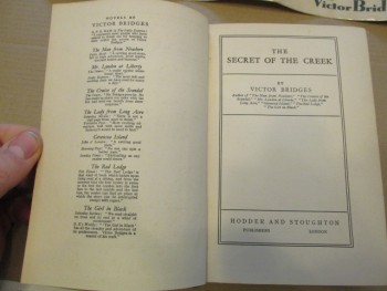 Image for The Secret of the Creek 1930 First Edition Hardback in Dustjacket