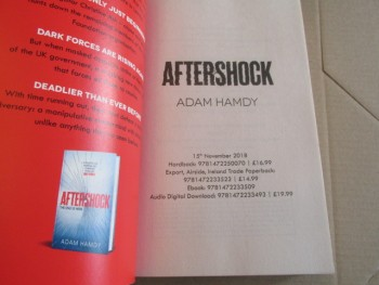 Image for Aftershock an Unread Uncorrected Proof Copy