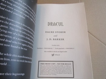 Image for Dracul an Unread Uncorrected Proof Copy