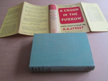 Image for A Crook in the Furrow 1940 First Edition Hardback in Dustjacket