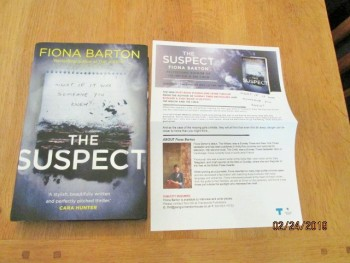 Image for The Suspect Unread Fine First Edition Hardback in Dustjacket Plus Publicity Letter