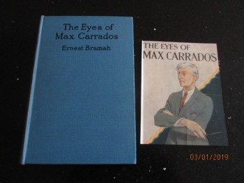 Image for The Eyes of Max Carrados First Edition Hardback