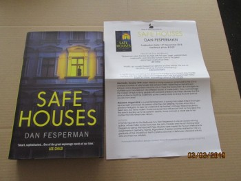 Image for Safe Houses First Edition Hardback in Dustjacket Plus Publicity Letter
