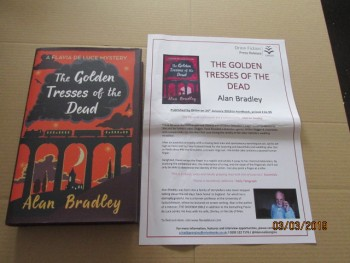 Image for The Golden Tresses of the Dead First Edition Hardback in Dustjacket Plus Publicity Letter