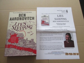 Image for Lies Sleeping First Edition Hardback in Dustjacket Plus Publicity Letter