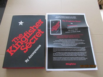 Image for The Kingfisher Secret First Edition Hardback in Dustjacket Plus Publicity Letter