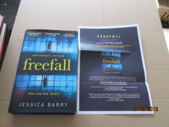 Image for Freefall First Edition Hardback in Dustjacket Plus Publicity Letter