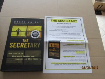 Image for The Secretary First Edition Hardback in Dustjacket Plus Publicity Letter