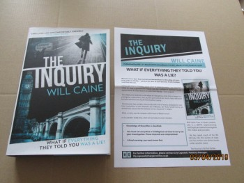 Image for The Inquiry First Edition Hardback in Dustjacket Plus Publicity Letter