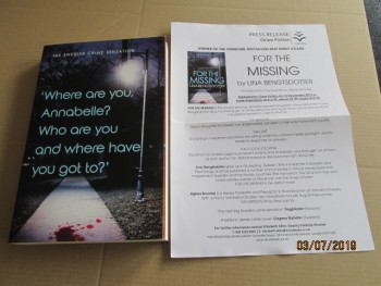 Image for For the Missing Unread Fine Proof Copy Plus Publicity Letter