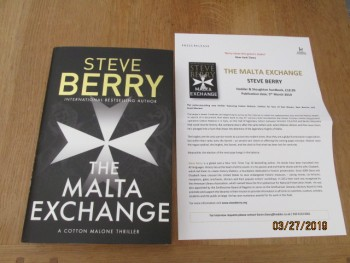 Image for The Malta Exchange First Edition Hardback in Dustjacket Plus Publicity Lette