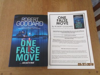 Image for One False Move Unread First Edition Hardback in Dustjacket Plus Publicity Letter