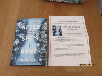 Image for After She's Gone Unread Fine First Edition Hardback in Dustjacket Plus Publicity Letter