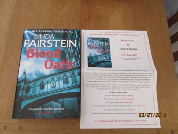 Image for Blood Oath Unread First Edition Hardback in Dustjacket Plus Publicity Letter