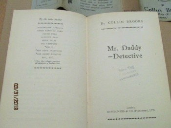 Image for Mr Daddy Detective 1933 First Edition Hardback in Dustjacket