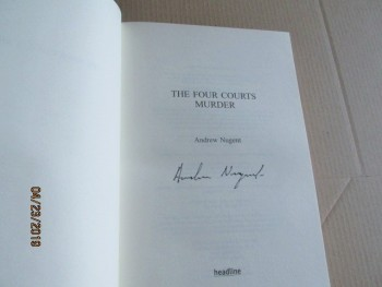 Image for The Four Courts Murder Signed First Edition Hardback in Dustjacket