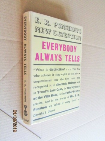 Image for Everybody Always Tells First Edition Hardback in Dustjacket