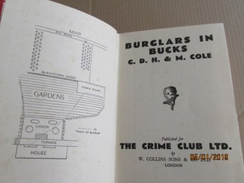 Image for Burglars in Bucks First Edition