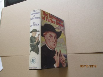 Image for The Incredulity of Father Brown First Edition in 2nd State Dustjacket