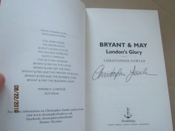 Image for Bryant and May London's Glory Signed First Edition