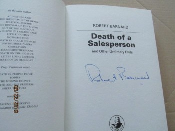 Image for Death of A Salesperson Signed First Edition Hardback in Dustjacket