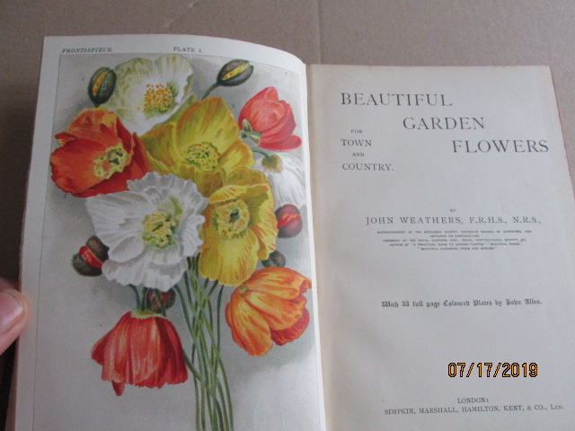 Image for Beautiful Garden Flowers From Town and Country with 33 Full Page Colour Plates By John Allen First Edition