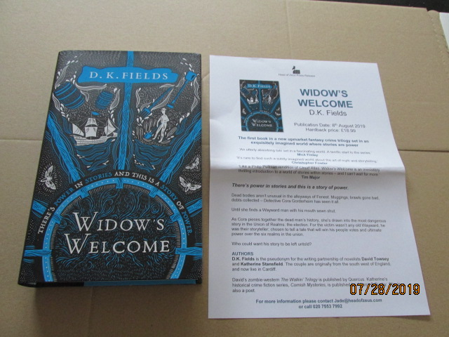 Image for Widow's Welcome First Edition Unread Plus Publicity Letter
