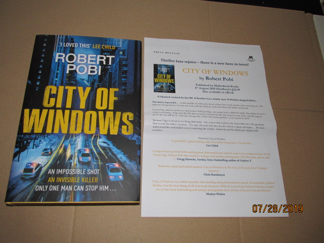 Image for City of Windows First Edition Unread Plus Publicity Letter